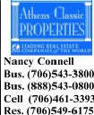 Real Estate Athens Georgia Nancy Connell